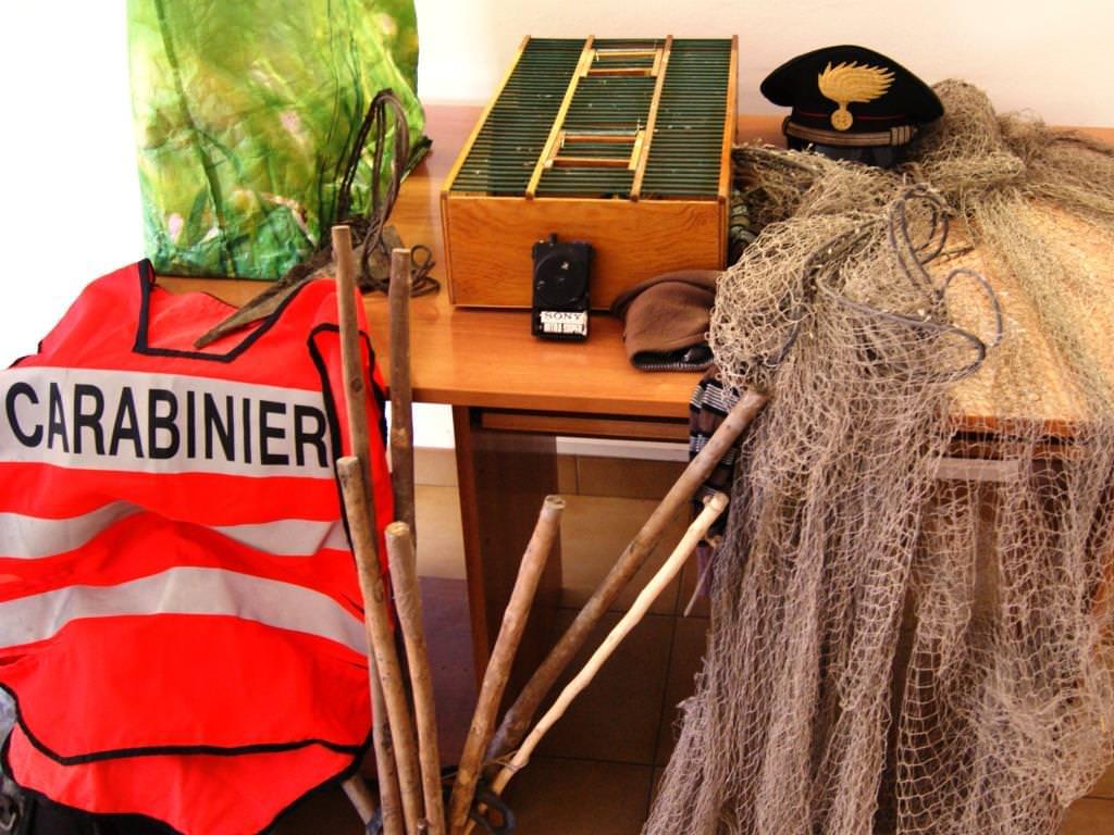 Oggetti sequestrati dai carabinieri