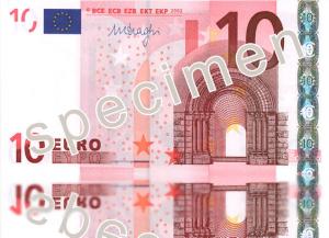 Vecchia banconota da 10 euro