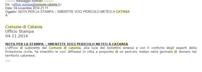screen comunicato catania
