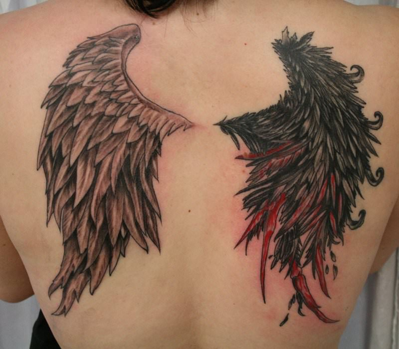 Angel_Devil_Bleed_Wing_TaT_by_2Face_Tattoo