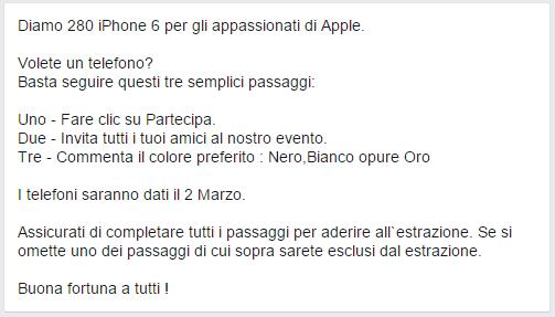 concorso_bufala_iPhone_regolamento