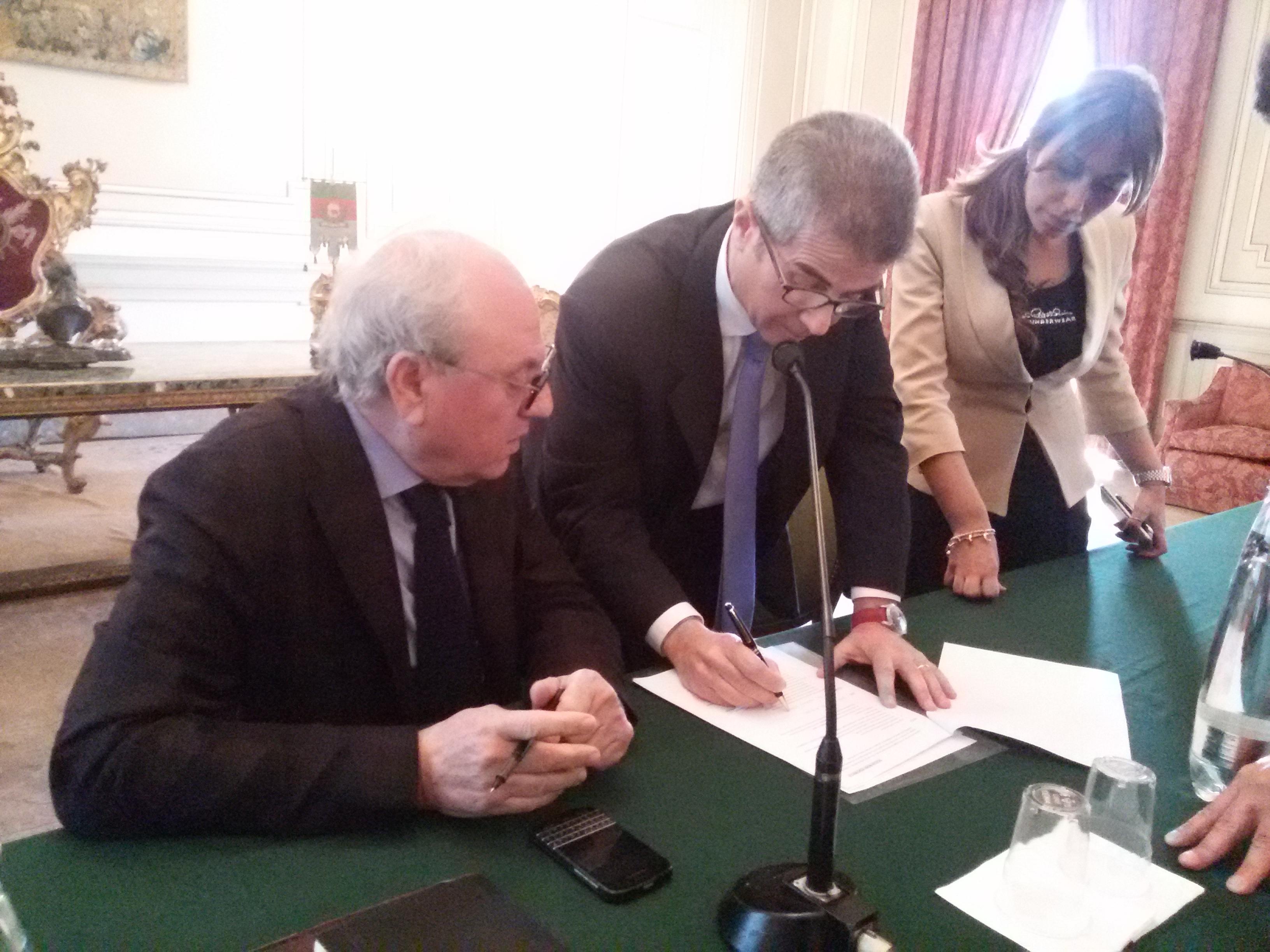 Salvatore Bonura, presidente Sac Spa e Gaetano Mancini, amministratore delegato