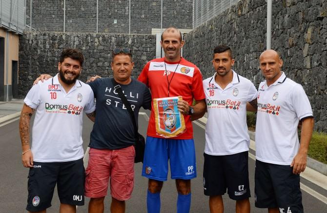 nella foto di Filippo Galtieri - da sx Maradona Jr, Della Negra, Pancaro, Zurlo e NIco