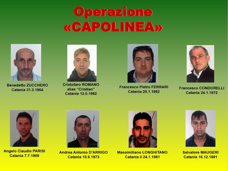 Arrestati operazione Capolinea