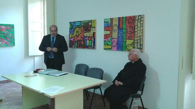 Da sinistra, il vice presidente Grasso e l'arcivescovo Pappalardo
