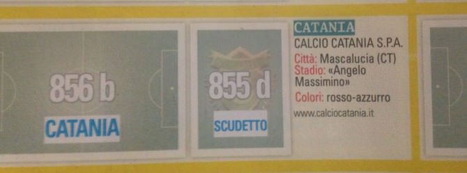 Album Calciatori Panini Catania