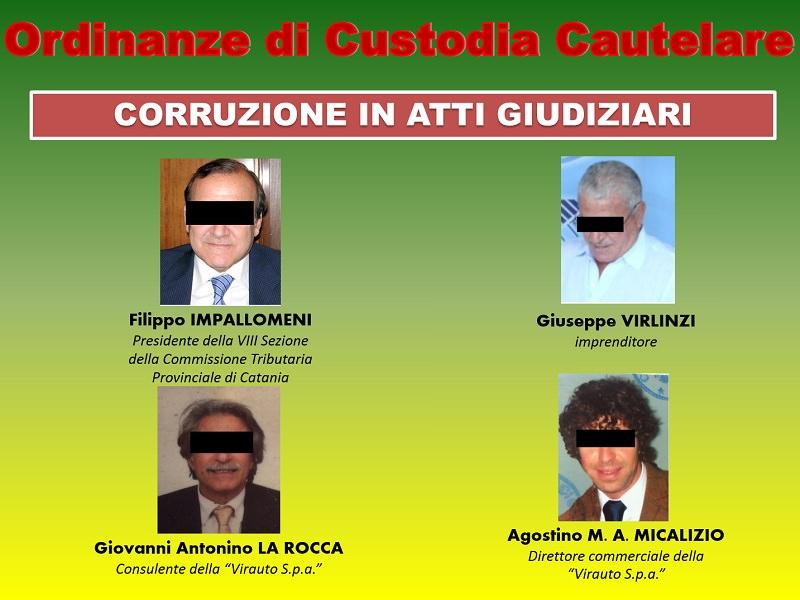 Catania, arrestati Virlinzi e il presidente della Commissione tributaria Impallomeni