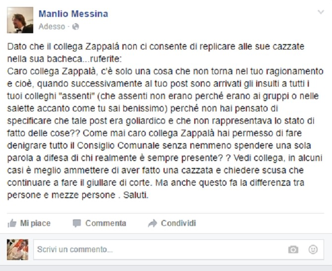 Post Manlio Messina