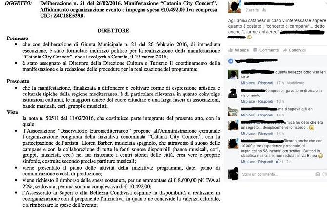 I commenti di alcuni cittadini su Facebook