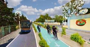 Progetto pista ciclabile Viale Kennedy