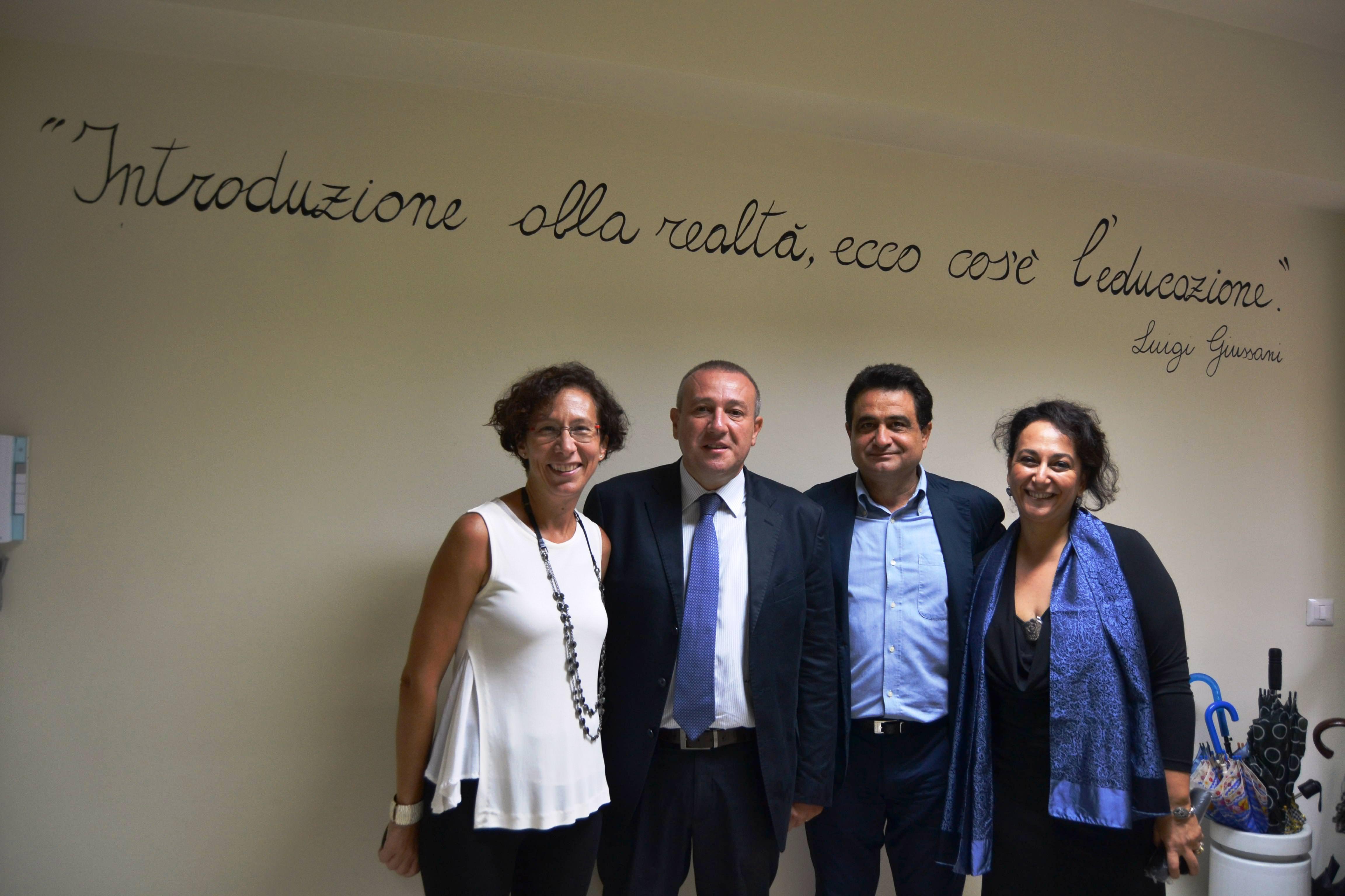 Da sx la preside Michela D'Oro, il presidente Michele Scacciante, il consigliere Salvo Scuto e la v.pres. Angela Pontorno