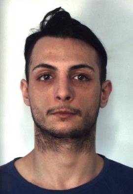 Andrea Vito Fichera (21), arrestato per furto di energia elettrica