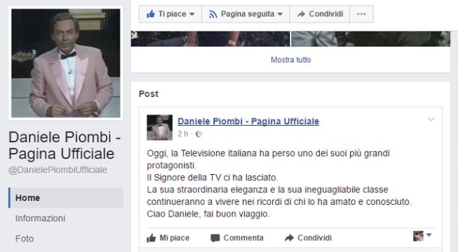 Daniele Piombi muore a 84 anni, aveva inventato l'OscarTV