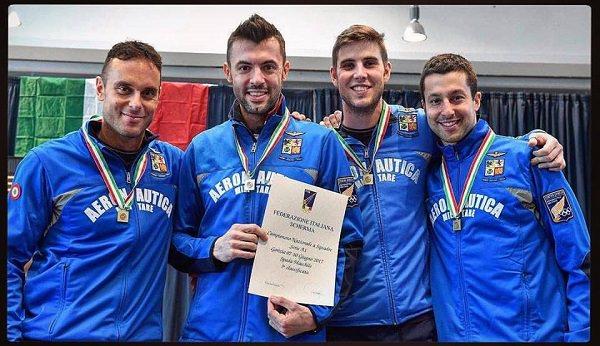 Paolo Pizzo medaglia di bronzo a squadre con l'Aeronautica Militare a Gorizia 2017