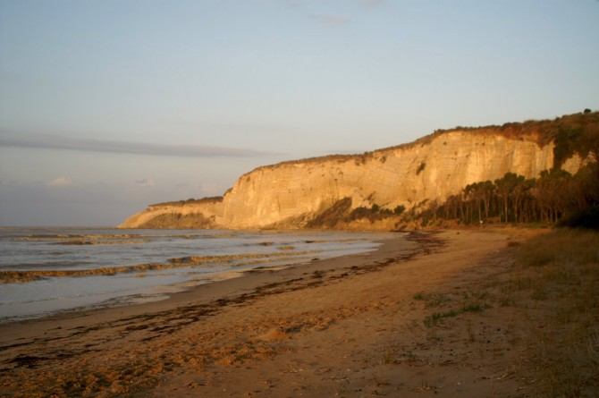 La spiaggia di Capo Bianco