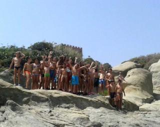 I ragazzi del Campus Maestro Mare all'Isola Lachea