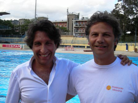 Il presidente Felice Genovese e l'allenatore Luca Tarquini