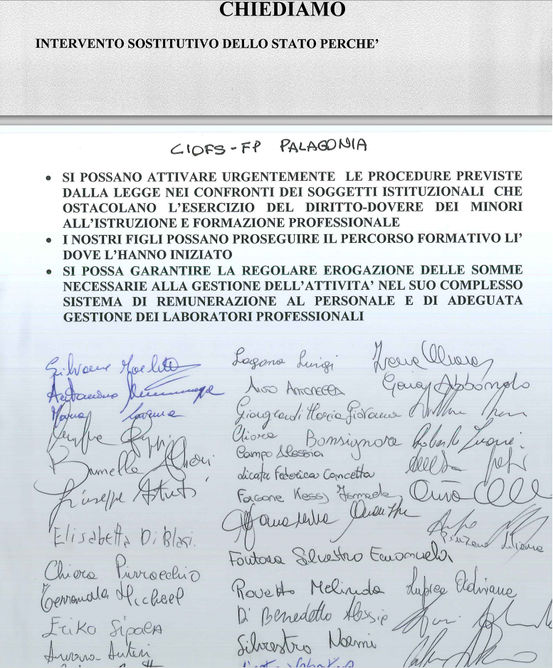 Petizione sezione di Palagonia