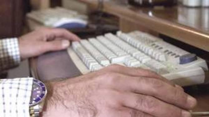 uomo tastiera pc
