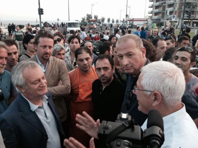 I commercianti manifestano le loro proteste all'assessore D'Agata