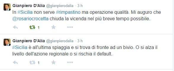 Gianpiero D'Alia  @gianpierodalia    Twitter