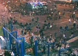Gli scontri all'esterno dello stadio Massimino del 2 febbraio 2007
