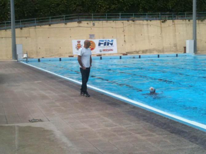 Maurizio Mirachi dirige l'allenamento
