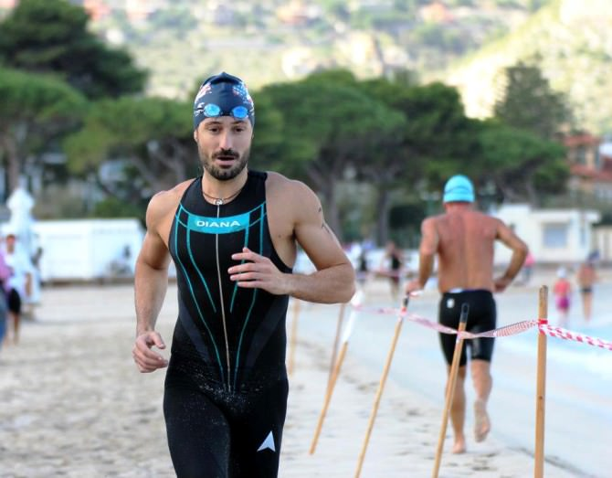 Concorrente in una precedente edizione dell'aquathlon