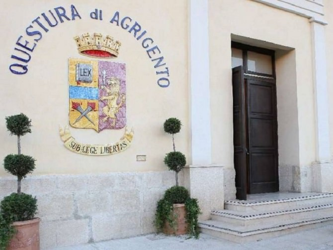 La Questura di Agrigento saluta Eugenio Amato