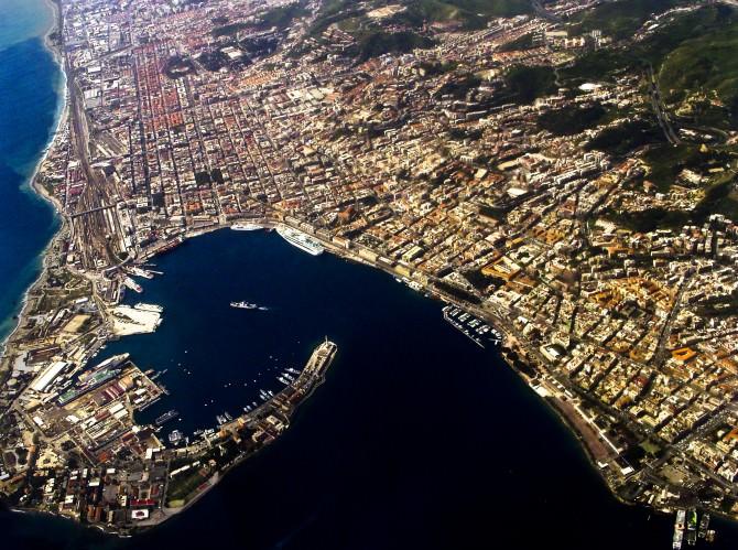 Porto di Messina dall'alto