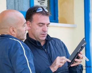 Maurizio Mirarchi ed il tecnico della nazionale Fabio Conti