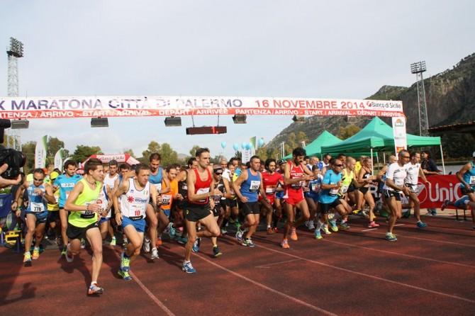 partenza Maratona Palermo 161114