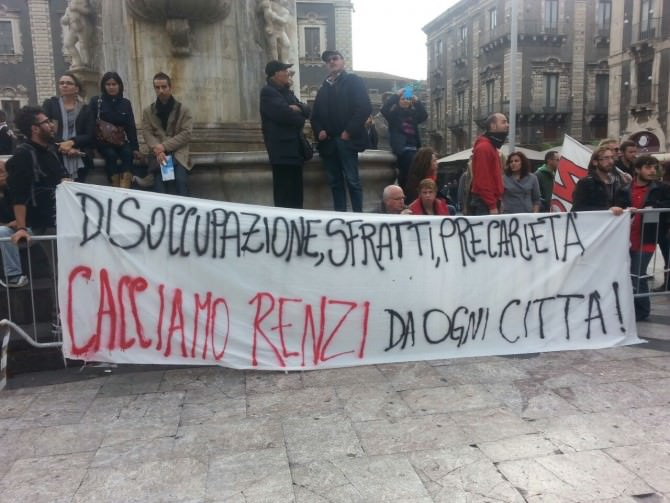 Protesta Matteo Renzi 1