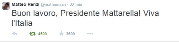 Matteo Renzi  @matteorenzi    Twitter