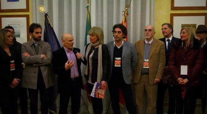 """Un momento della conferenza stampa al Comune di Piazza Armerina per la presentazione di """"Comuni amici"""""""