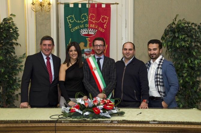 Da sinistra Sebastiano Sinitò, Bianca Prezzavento, Carlo Caputo, Giuseppe Zitelli, Tony Di Mauro-2