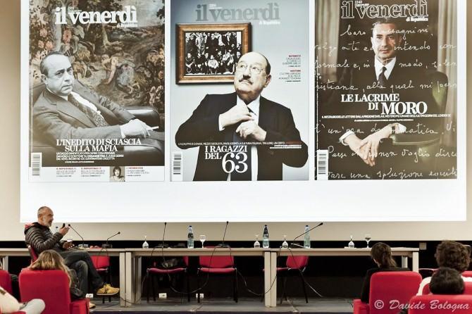 Nella foto di Davide Bologna, Gianni Mascolo, Art Director di Il Venerdì di Repubblica
