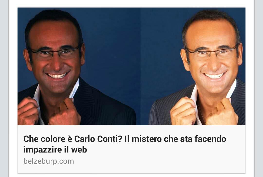 Parodia Vestito Carlo Conti