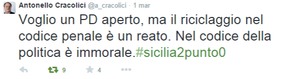 Antonello Cracolici  @a_cracolici    Twitter