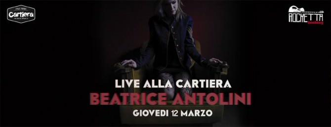 Beatrice Antolini locandina Cartiera