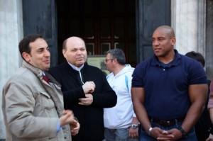 Don Scionti a colloquio con ufficiale Marines
