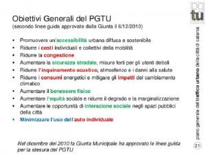 Obiettivi generali PGTU