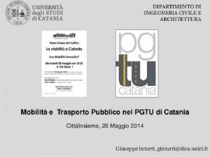 PGTU, Piano generale del traffico urbano