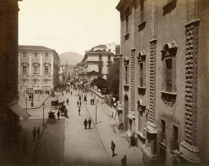 Catania fine Ottocento, foto all'albumina (coll. privata Angelo Barone)