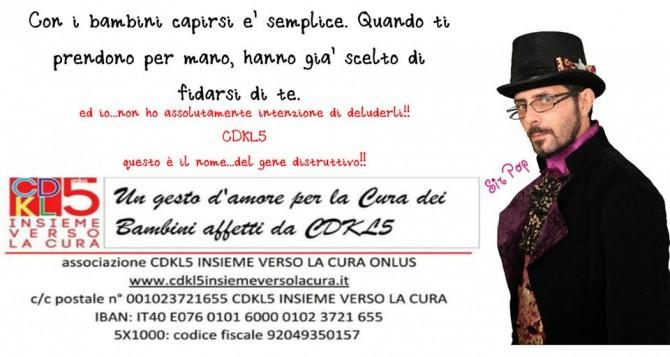 CDKL5 Sir Pop beneficenza