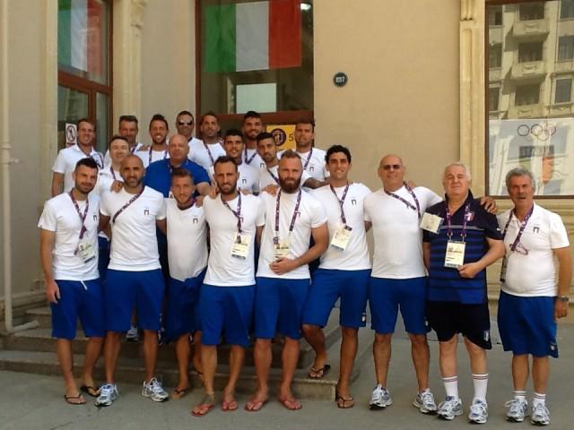 nella foto il gruppo azzurro a Baku