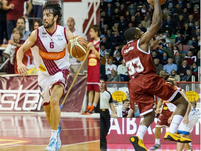 Guido Meini e Alex Legion pallacanestro Trapani