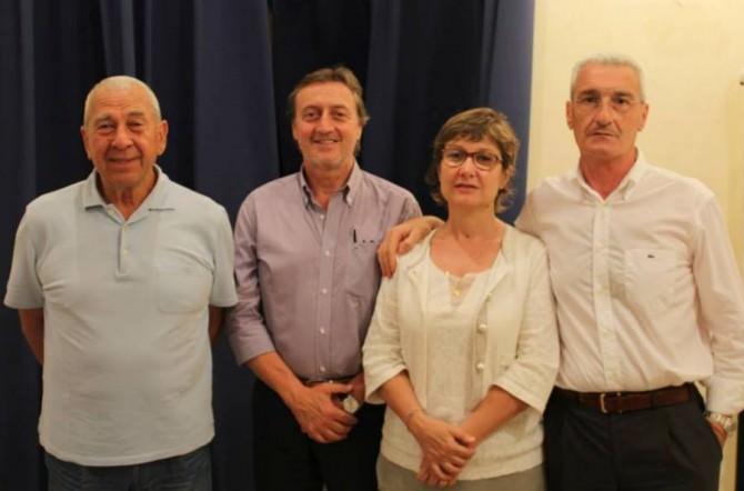 Nella foto da sinistra Vito Lo Monaco, Eugenio Tumbarello, Daniela De Luca e Filippo Cutrona