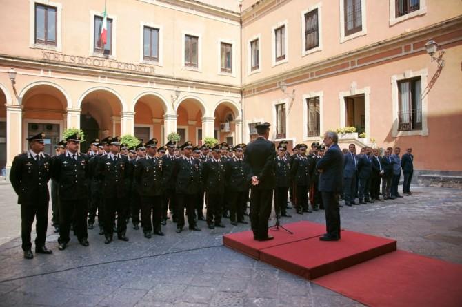 Saluto Giovanni Salvi procuratore Catania arma dei carabinieri