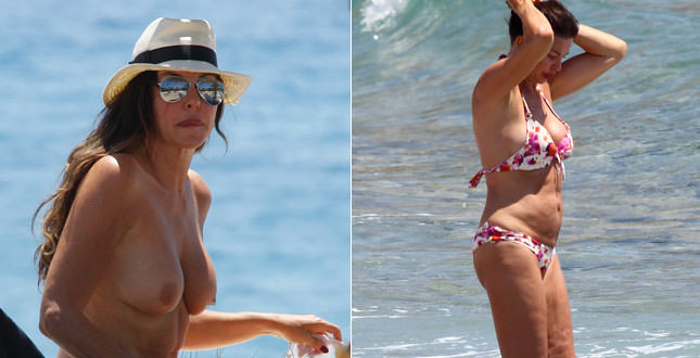 Alba Parietti in topless ad Ibiza